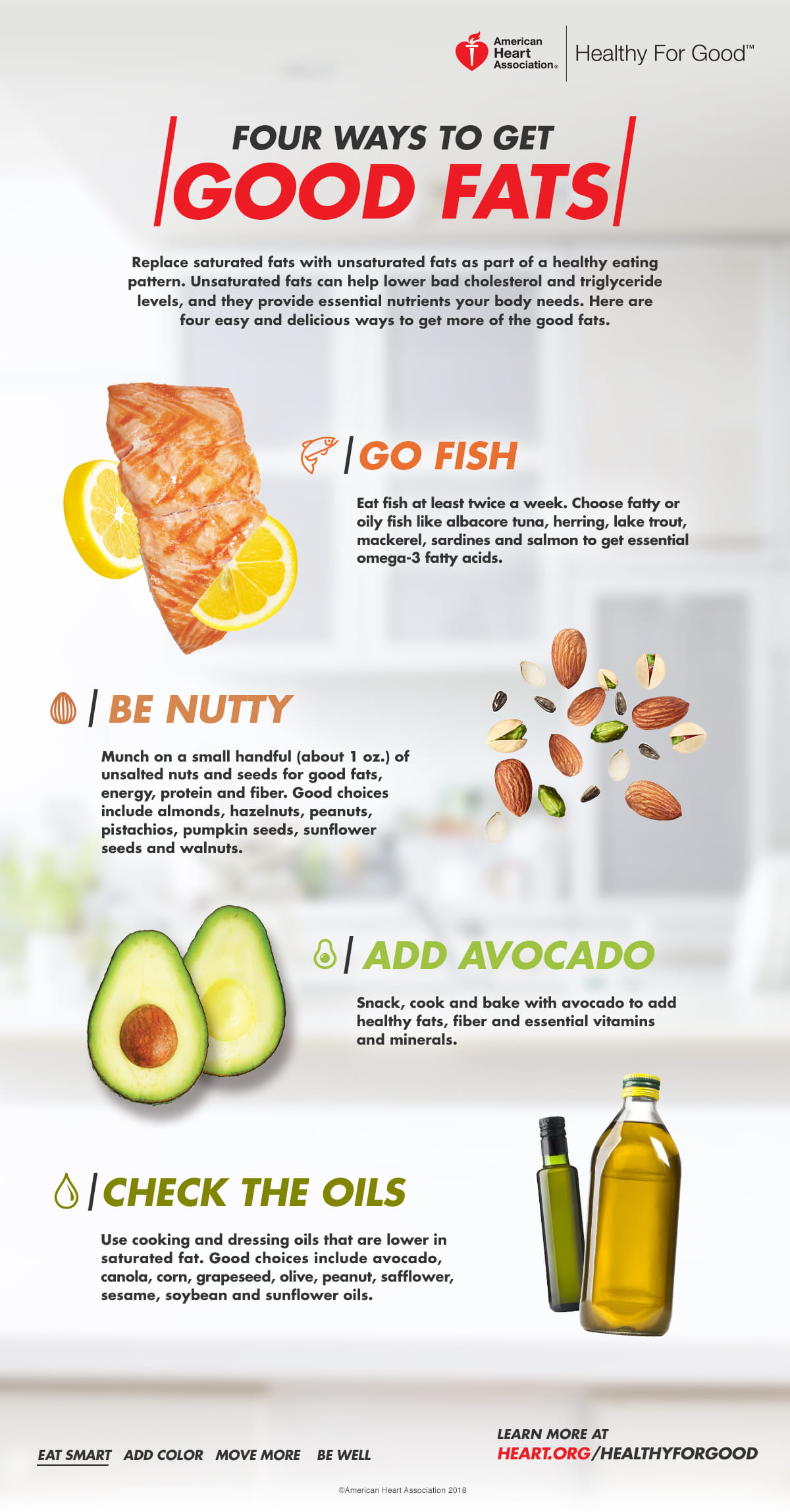 4 Ways to Get Good Fats Infographic
