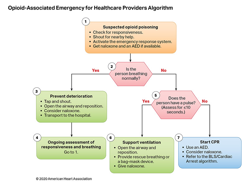 Figure 11. Opioid-Associated Emergency for Healthcare Providers Algorithm