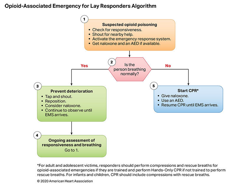 Figure 10. Opioid-Associated Emergency for Lay Responders Algorithm
