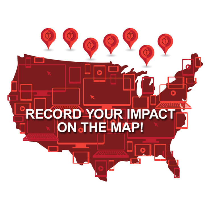 Record Your Impact on the Map!
