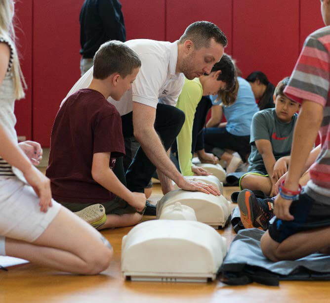 Lake Highlands training CPR in Schools